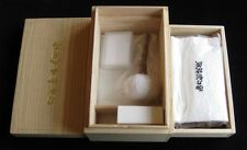 Sword cleaning kit in a 2-stage handmade kiri wood box.