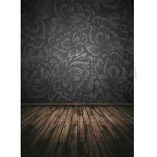 5x7FT Black Relief Damask Wood Photographic Background Cloth Backdrop For Studio