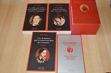 coffret 3 livres Millenium tomes 1 2 3 + livret - la trilogie / Actes noirs