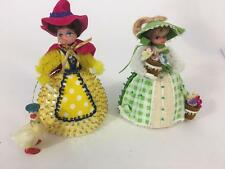 Lil Missy Beaded Doll Vtg Walco Lot 2 Mother Goose 13360B Mary Contrary 13360F