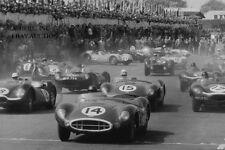 Aston Martin DBR1 & Tony Brooks – Jaguar C D Type – start F2 Silverstone 1958 –