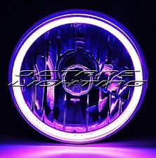 5-3/4 Motorcycle Purple COB SMD LED Halo Halogen Light Bulb Headlight For Harley