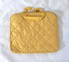 LIZ CLAIBORNE* Polyester Laptop Padded Quilted Sleeve w/Zipper in Yellow ~ NWOT