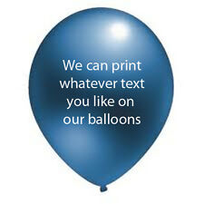 30 CUSTOM PRINTED PERSONALISED ANY TEXT AND LOG  Helium Quality Latex