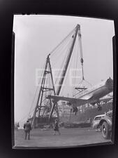 '46 American Airlines Douglas Flahship Plane Pier 94 NYC Old Photo Negative 480B