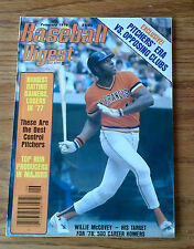 """BASEBALL DIGEST FEB 1978 MINT GIANTS WILLIE MCCOVEY, GAYLORD PERRY, LOU BROCK"""""""