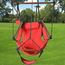 Red Hammock Hanging Chair Swing Outdoor Seat Patio Outdoor Garden Beach Camping