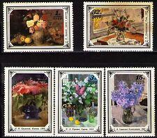 Russia 1979 Sc4765-9  Mi4866-70  5v  mnh  Russian Flower Paintings