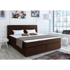 Designer Boxspringbett Bett Hotelbett Polsterbett Stoff Braun 140x200 cm