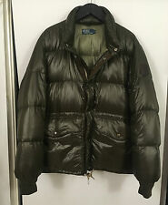 AUTHENTIC RALPH LAUREN METALLIC DOWN FEATHER QUILTED PUFFER PUFFA JACKET COAT L
