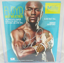 Floyd Mayweather Signed Mlife Magazine 10x12 - Global Authenticated
