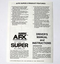 1972 Aurora HO Slot Car AFX Super II Original Instruction Pamphlet Flyer UNUSED
