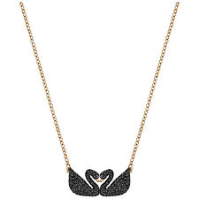 Swarovski 5204130 Iconic Double Swan Necklace RG 24x10mm RRP $199