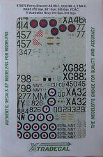 Xtradecal 1/72 X72070  Fairey Gannet AS Mk 1, COD Mk4 + T Mk 5 decal set
