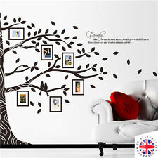 FAMILY TREE PHOTO FRAME Wall Sticker Vinyl Art Decal EXTRA LARGE Birds Quotes