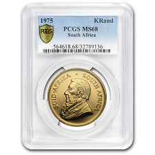 1975 South Africa 1 oz Gold Krugerrand MS-68 PCGS - SKU #105294