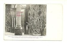 CRUTCHES, STAFFS USED BY INVALIDS AND CRIPPLES, QUEBEC, CANADA VINTAGE POSTCARD
