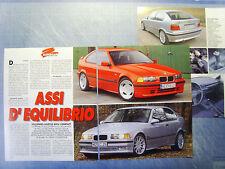 AUTO995-RITAGLIO/CLIPPING/NEWS-1995-BMW COMPACT KELLENERS-HARTGE - 3 fogli