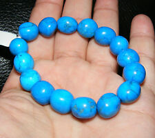 Blue Howlite Gemstone Crystal Bracelet A Grade 10mm-12mm Beads