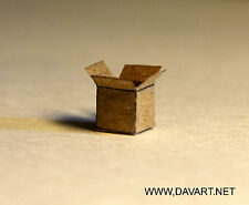 * DAVE'S DETAILS HO 1:87 SCALE PLAIN BROWN BOXES FOR DIORAMA AND SCENERY DETAIL