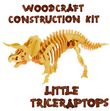Woodcraft Construction Kit Triceratops 3D Wooden Model Game Building Puzzle Toy