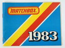 Vintage 1983 Matchbox Lesney Collector's Toy Dealer Catalog Booklet