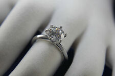 1 CT Diamond Solitaire Engagement Ring Round Cut D SI 14k White Gold