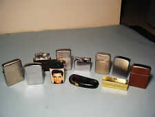 Vintage Lot Of 10 Collectible Lighters Apollo, Kron, Champ, Elvis & one matchbox