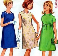 """Vintage 60s Mod DRESS Sewing Pattern Bust 40"""" Size 16 Party RETRO Evening"""