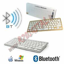 TASTIERA SLIM BLUETOOTH BIANCO MINI ULTRA SOTTILE APPLE iMAC STYLE PC NOTEBOOK
