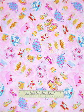 Timeless Treasures Fabric - Cookies Cupcakes Tea Time on Pink C7902 LAST 30""