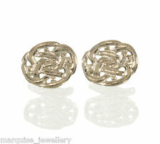 925 Sterling Silver Oval Celtic Knot Cufflinks. 925 Cuff Links.