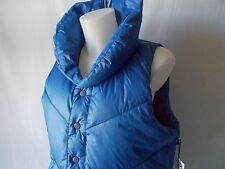 NWT VANS Soda Pop PUFFER VEST Down Filled BLUE Womens L Large Jacket  0577   $89