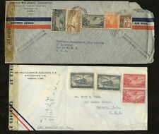 AIRMAIL 1941-42 WW2 CENSORED USA MULTIFRANKINGS..20 stamps on 6 COVERS