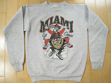 LOONEY TUNES!! vintage MIAMI HURRICANES bugs bunny taz SWEAT SHIRT youth xl
