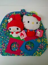 SANRIO HELLO KITTY MY MELODY plush doll set & Jackpopz backpack bag toy
