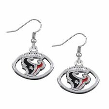 Houston Texans Round Logo NFL Football Pair of Earrings Ear Rings Brand New!