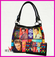ELVIS PRESLEY WOMEN'S Handbag & Wallet Set GIRL'S SHOULDER, TOTE BAG