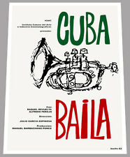 "24x36""Cuban movie Poster for art film Cuba baila.Dance.Jazz.Trumpet.Music show"