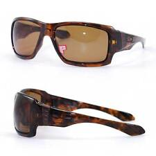 New Oakley Big Taco Polarized Sunglasses Sport Tortoise/Bronze $190 Authentic