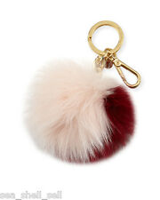 MICHAEL KORS XL Fur Pom Keychain Key Fob Fur NWT & BOX Cherry/ Ballet