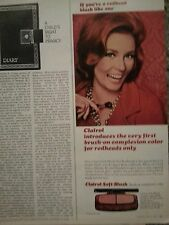 1966 Clairol Brush On Complexion Color Makeup Redhead Original Ad