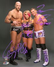 WWE SIGNED PHOTO NATTIE CESARO & TYSON KIDD WRESTLING 8x10 WITH PROOF