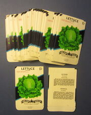 Wholesale Lot of 100 Old Vintage - LETTUCE - Hanson - Vegetable SEED PACKETS