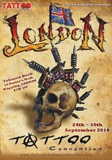 "TARGA VINTAGE""2010 LONDON TATTOO CONVENTION"" Pubblicità,ADVERTISING,POSTER PLATE"