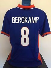Holland BERGKAMP 97/98 Away Football Shirt (L) Soccer Jersey