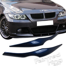 Painted BMW E90 325i 330i eyelids eyebrow Headlight Cover 06-11