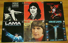 SERGE LAMA 6 LP LOT ALBUM VINYL COLLECTION Records Superman/Palais des Congres+