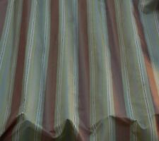 "Pink/Taupe/Gold Vertical Stripes 100% Silk Taffeta Fabric 44"" W By Yard (SD-705)"