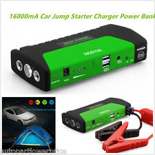 Portable 12V 16800mA SOS LED Car Jump Starter Jumper Booster Battery Power Bank